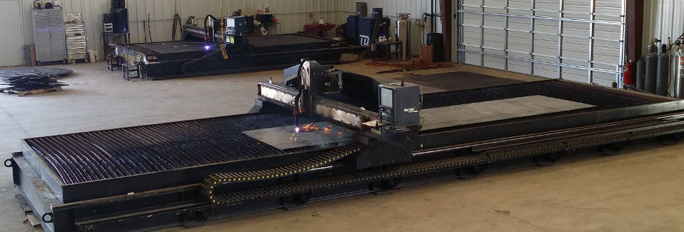 CNC Plasma Cutter Model: XT Rail - Up To 40' wide by 100' long. CNC Plasma for Large Jobs.